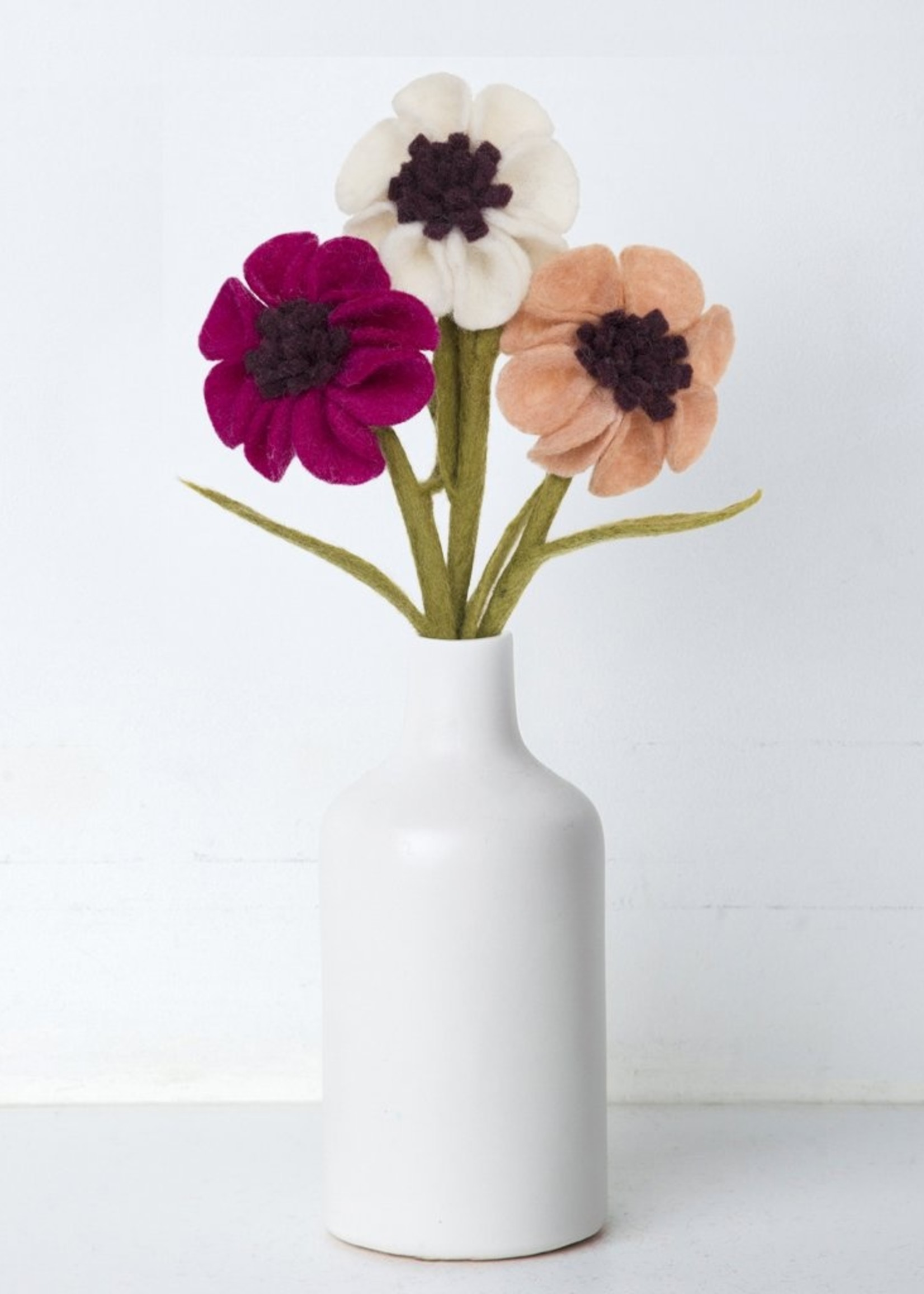 Global Goods Partners Felt Anemone Flower