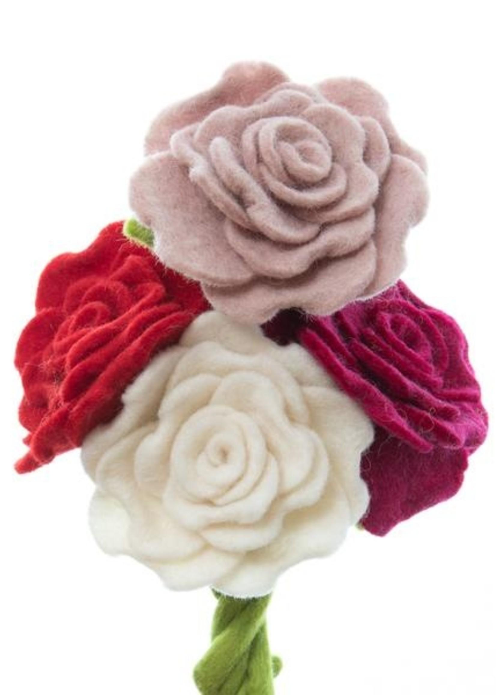 Global Goods Partners Felt Blooming Rose Flower