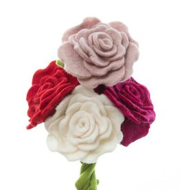 Global Goods Partners Felt Blooming Rose Flower