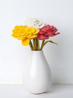 Global Goods Partners Felt Zinnia Flower