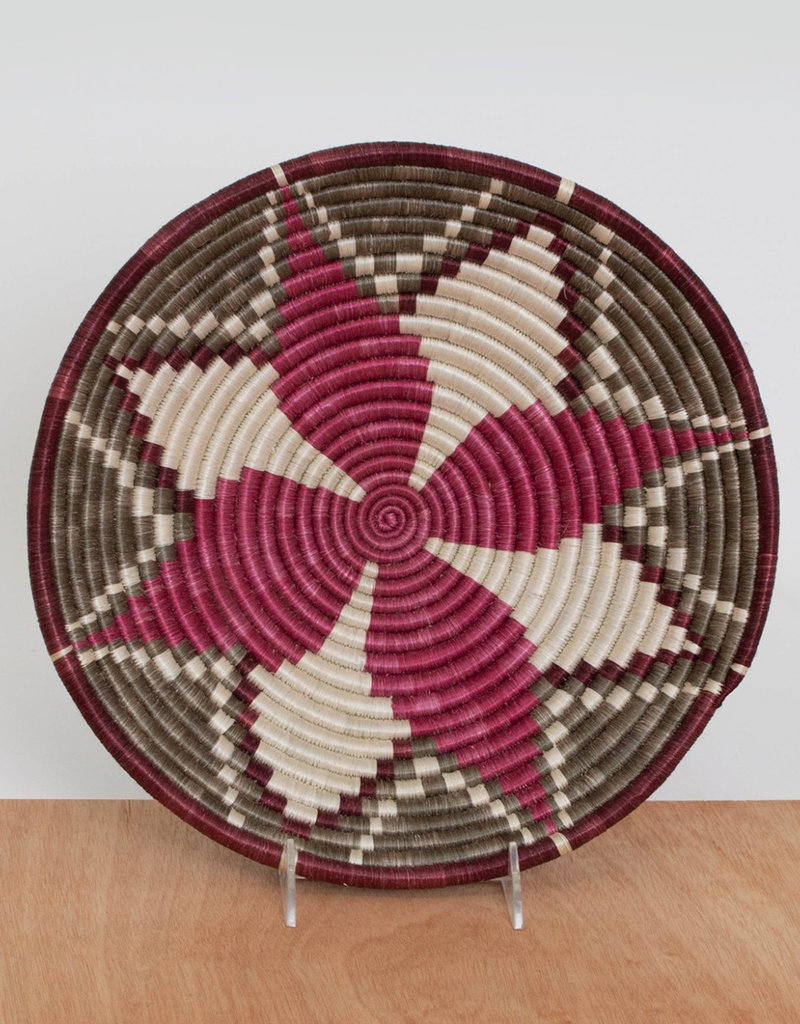 Kazi Large Mauve Fig + Taupe Basket