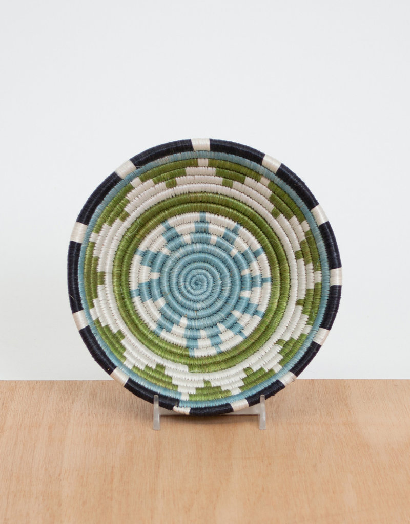 Kazi Small Pastel Green + Dusk Blue Basket