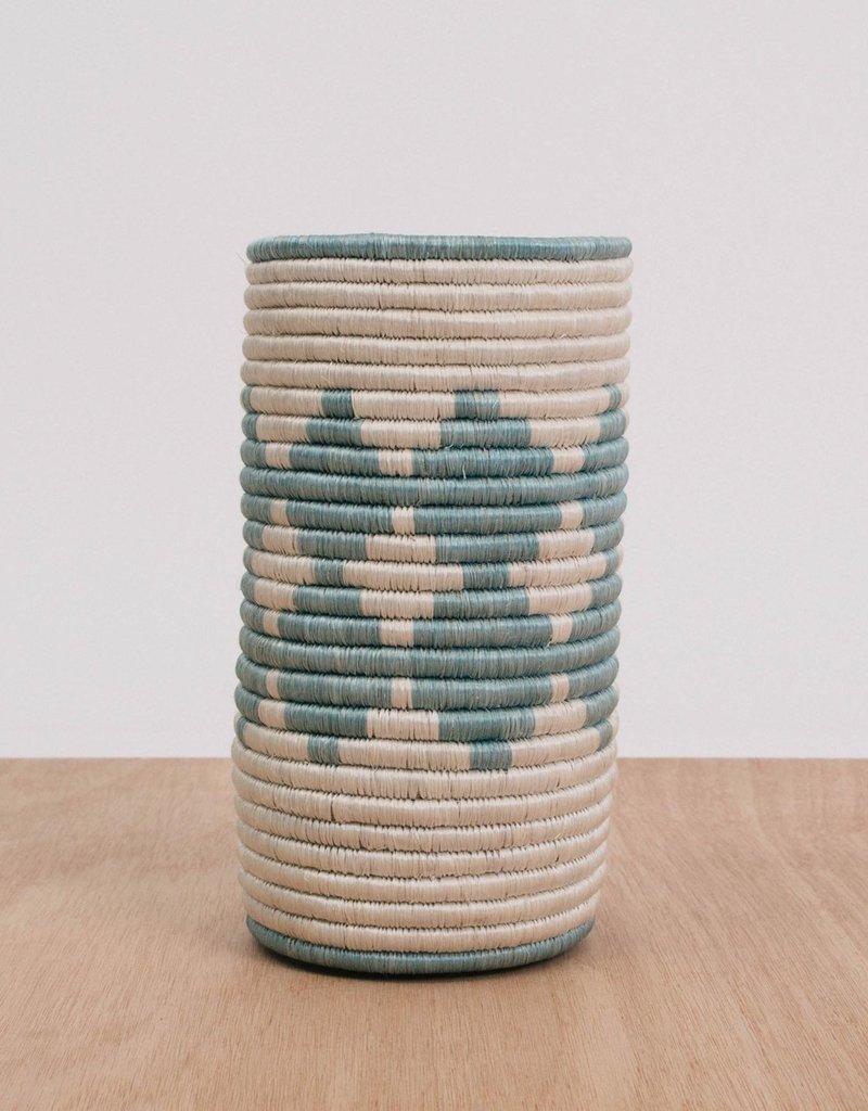 Kazi Silver Blue Sisal Vase