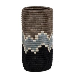 Kazi Light Taupe + Black Bahari Sisal Vase