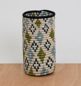 Kazi Dusk Blue + Pastel Green Sisal Vase