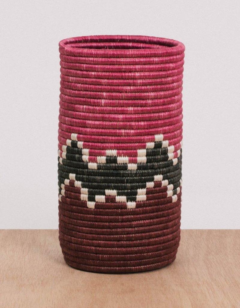 Kazi Mauve Fig Bahari Sisal Vase