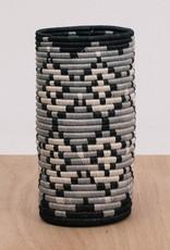 Kazi Black + Gray Tofali Sisal Vase