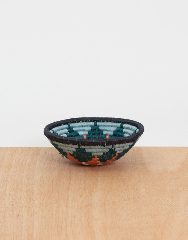 Kazi Small Melon + Teal Burst Basket