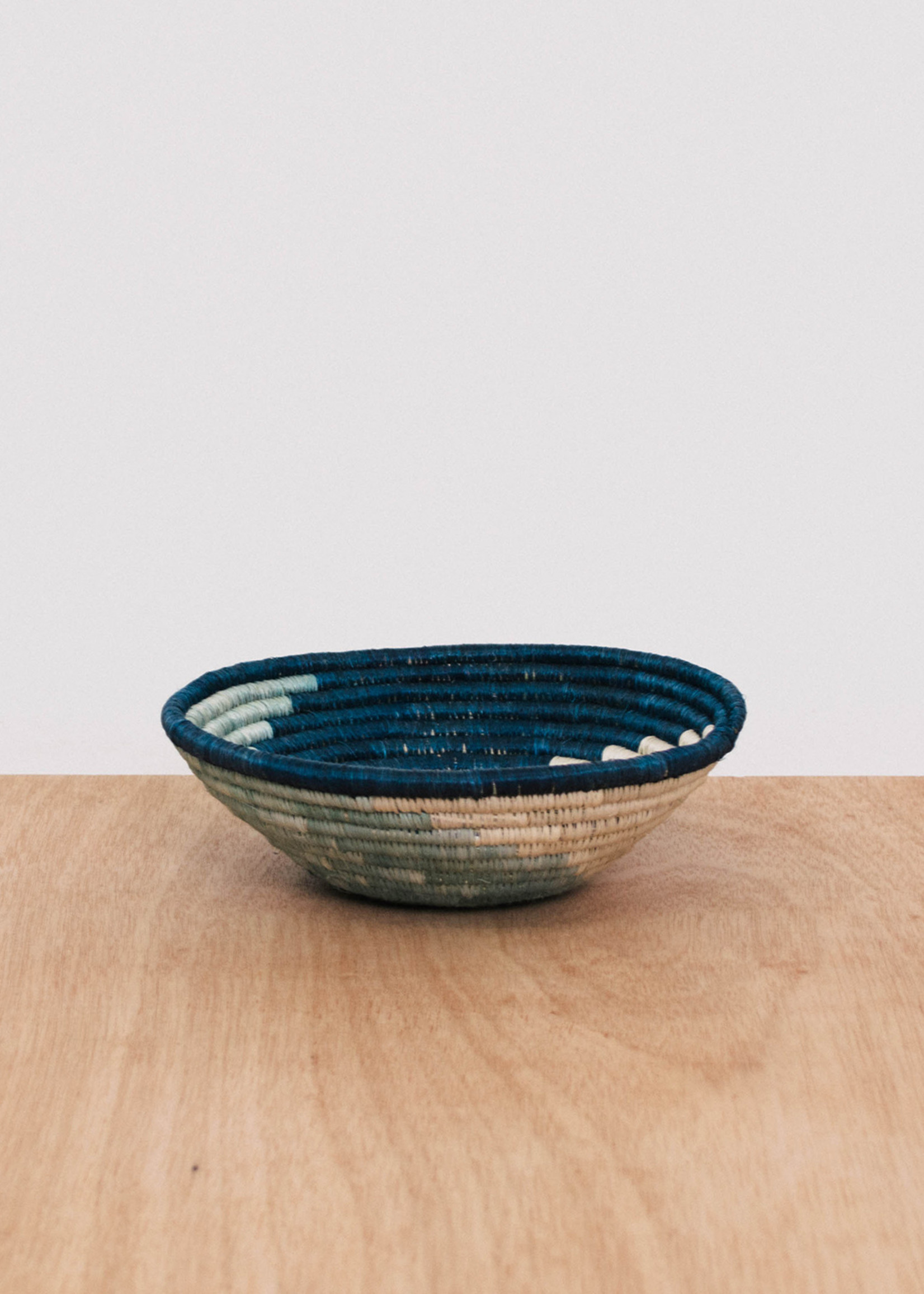 Kazi Small Silver Blue Unity Basket
