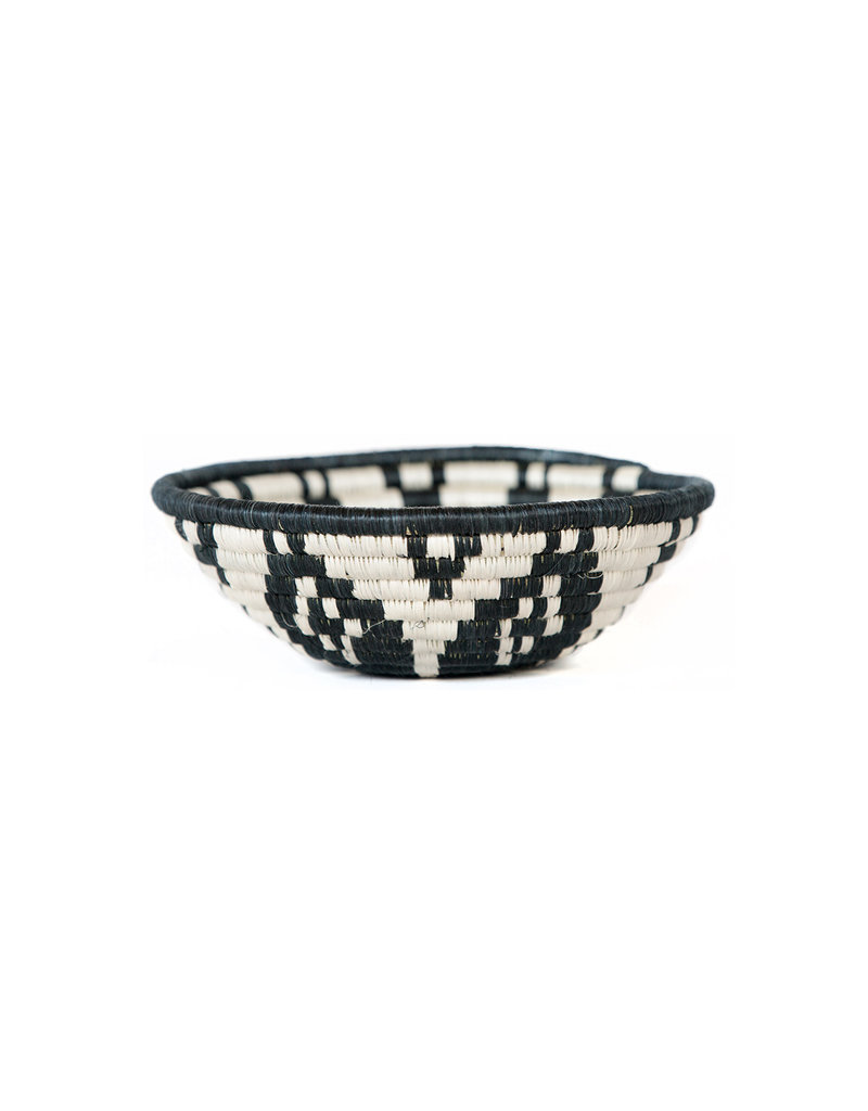 Kazi Small Black + White Ikaze Basket