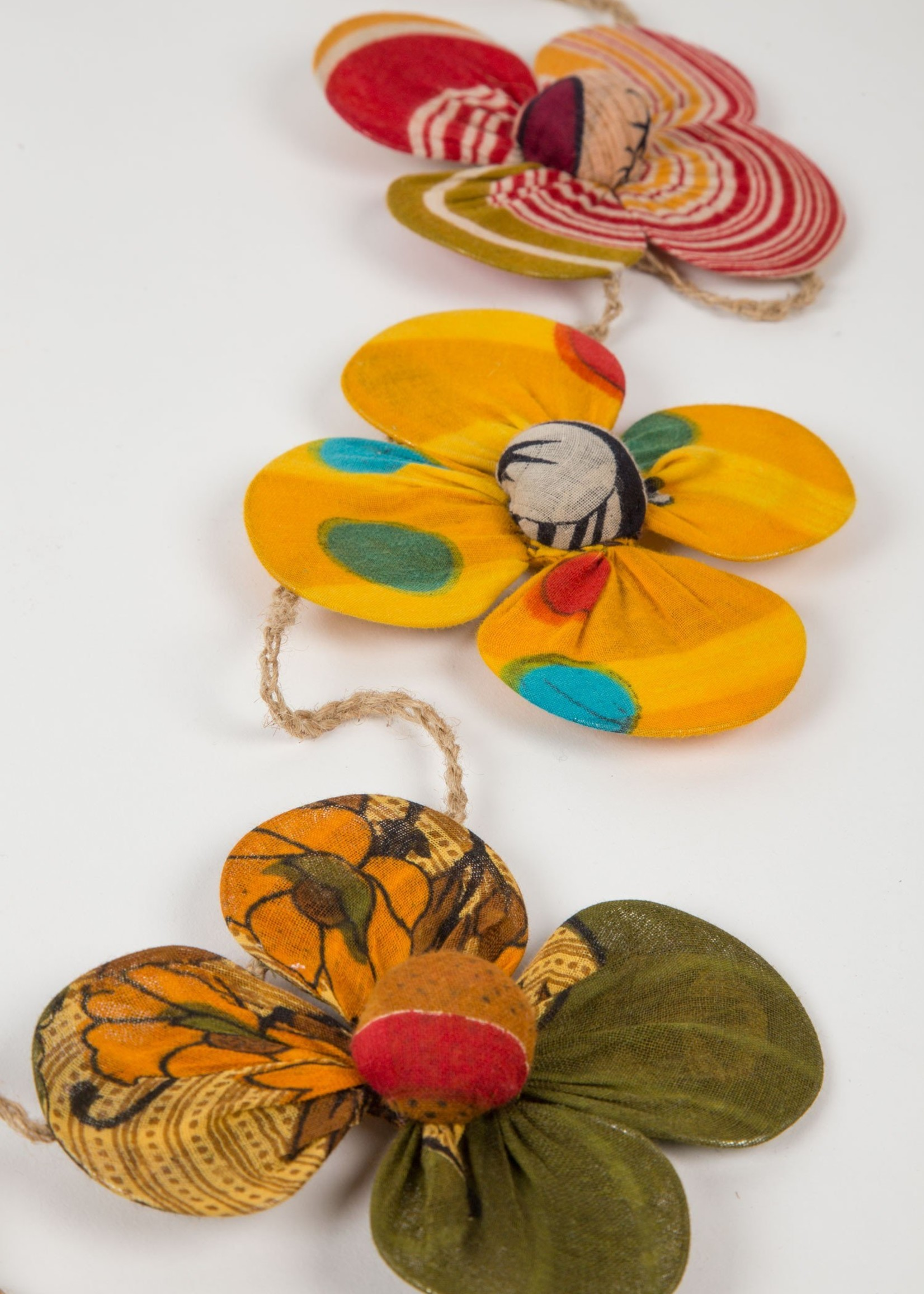 Recycled Sari Flower Garland