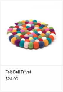 Fair Trade Felt Ball Trivet