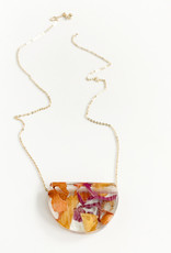 Belart Half Moon Rose Petal Necklace