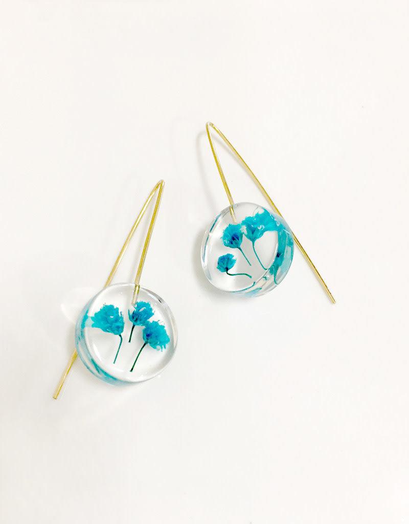 Belart Mini Moon Gypsophila Earrings