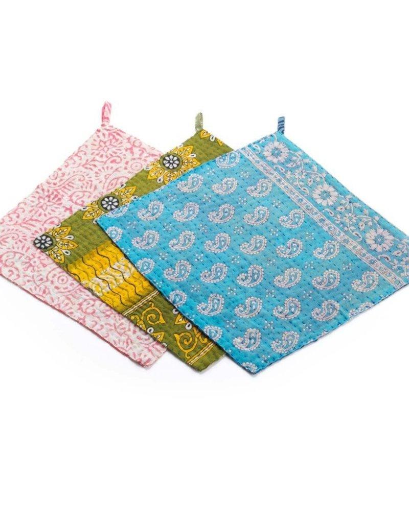 Recycled Cotton Sari Dishcloth Set