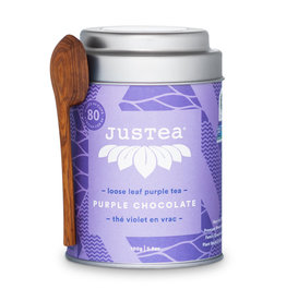 JusTea Loose Leaf Tea - Purple Chocolate