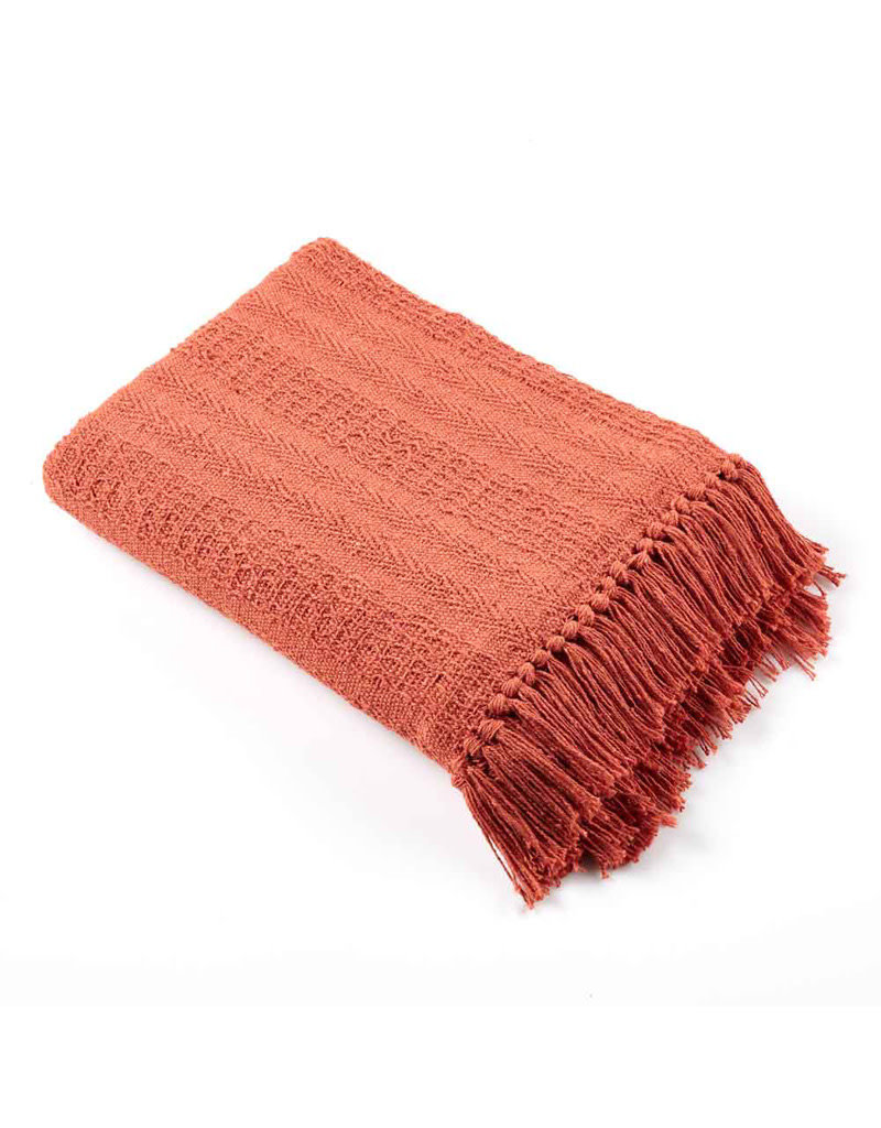 Asha Handicrafts Brick Rethread Throw