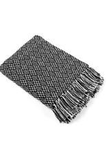 Asha Handicrafts Black Diamond Rethread Throw