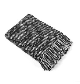 Asha Handicrafts Black Diamond Rethread Throw