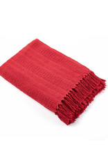 Asha Handicrafts Red Rethread Red Throw