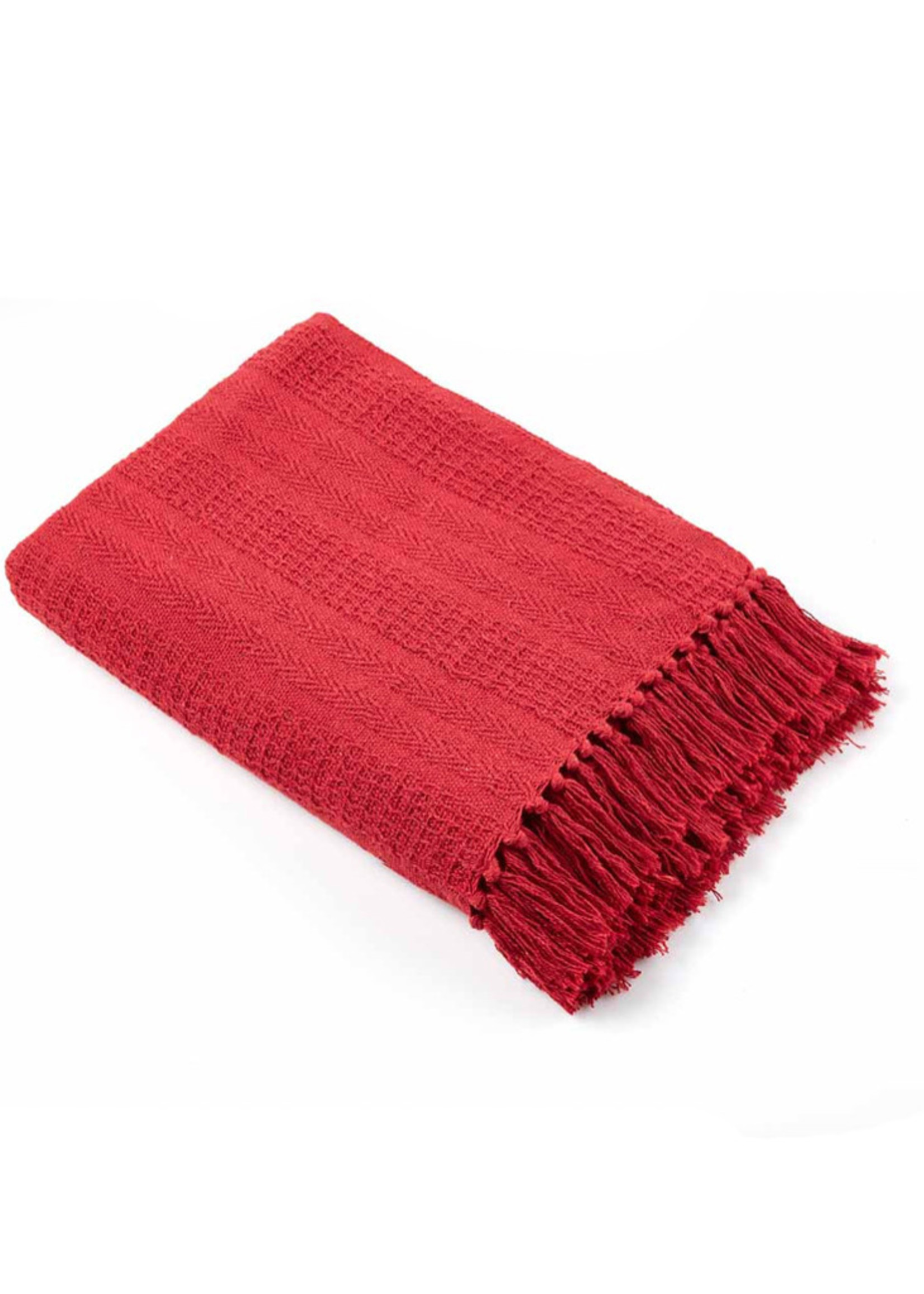 Red Rethread Red Throw