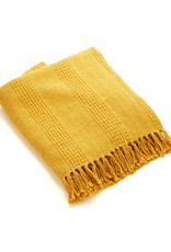 Asha Handicrafts Mustard Rethread Throw