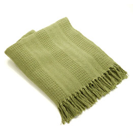 Asha Handicrafts Moss Rethread Throw