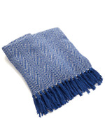 Blue Chevron Rethread Throw