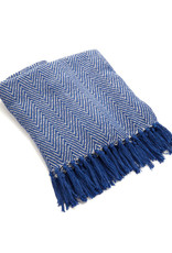Asha Handicrafts Blue Chevron Rethread Throw
