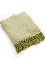 Asha Handicrafts Green Chevron Rethread Throw