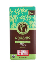 Equal Exchange Dark Chocolate Bar with Mint Crunch