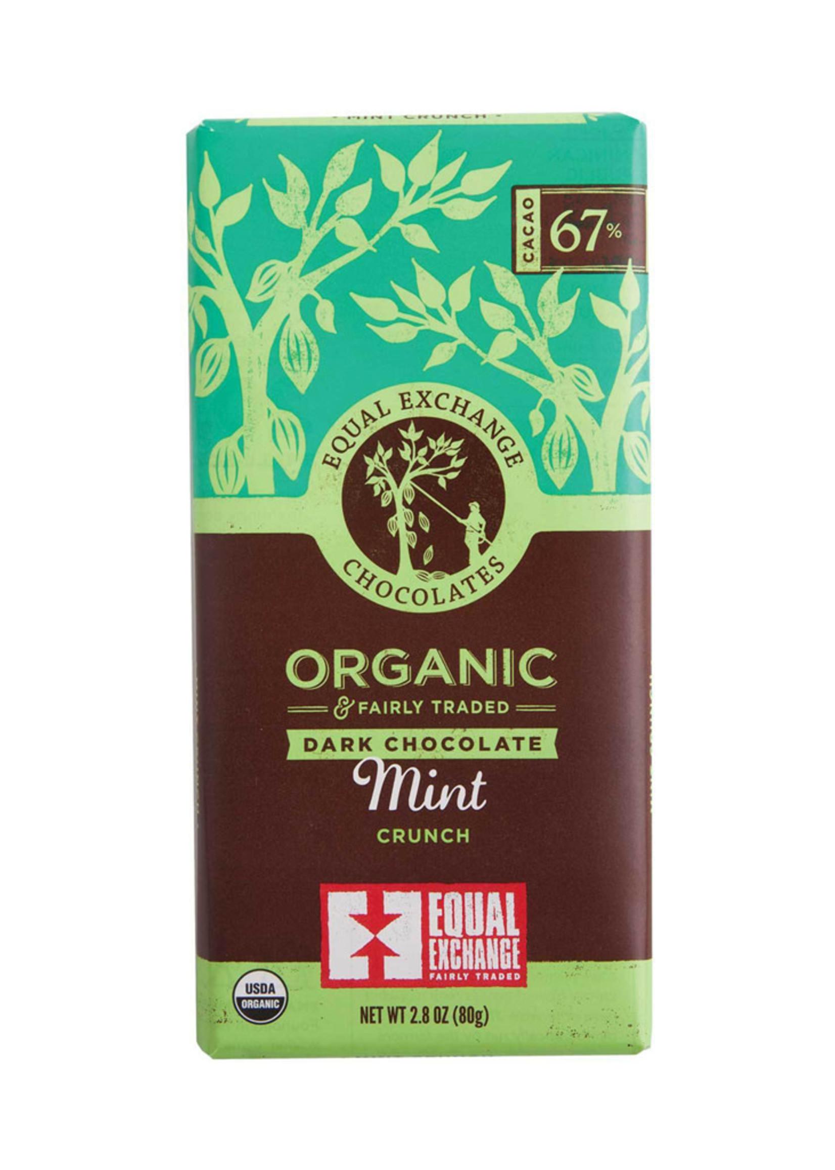 Equal Exchange Dark Chocolate Bar with Mint Crunch
