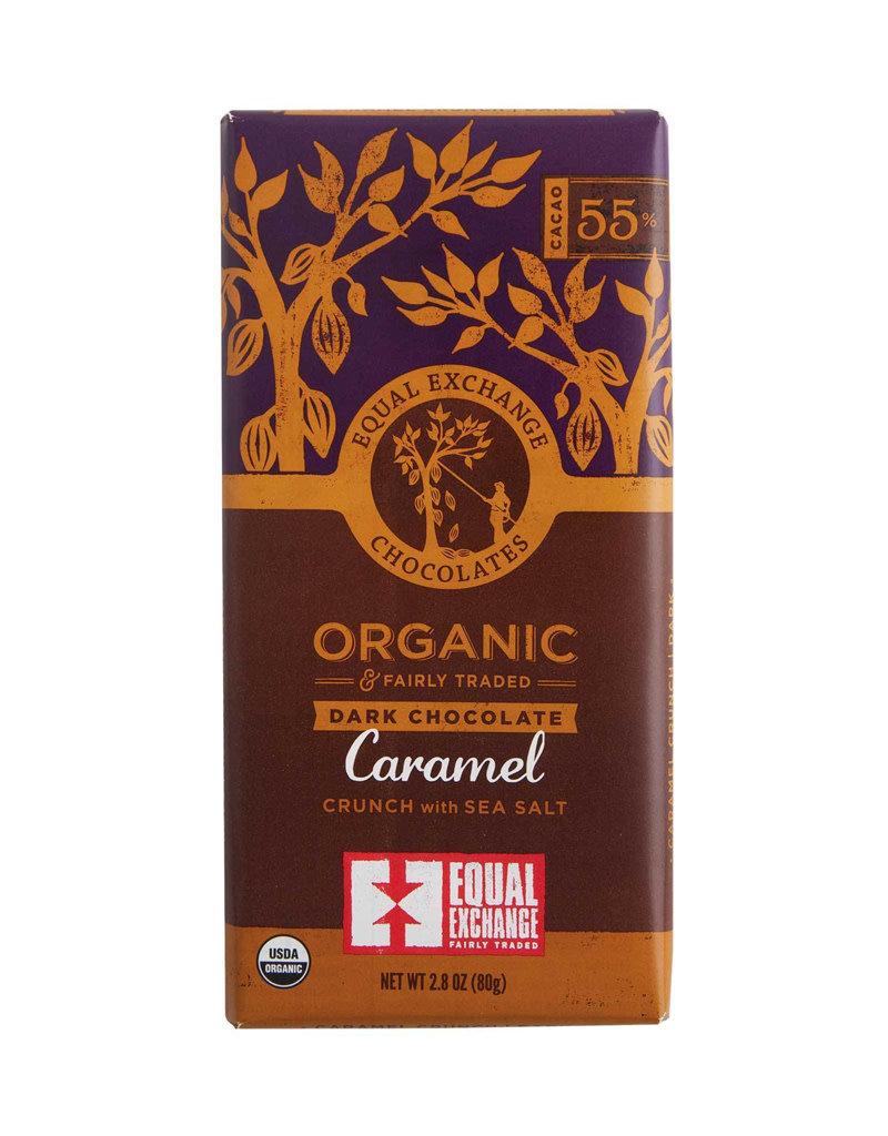 Equal Exchange Dark Chocolate Bar with  Caramel & Sea Salt