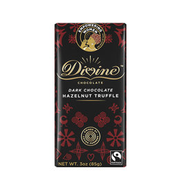 Divine Chocolate Dark Chocolate Bar  with Hazelnut Truffle
