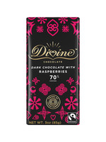 Divine Chocolate Dark Chocolate Bar with Raspberry