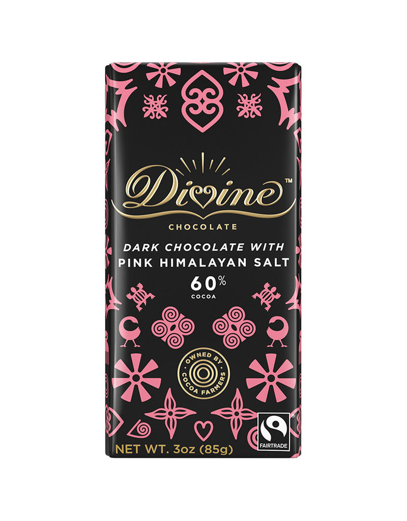 Divine Chocolate Dark Chocolate Bar with Himalayan Salt