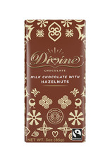 Divine Chocolate Milk Chocolate Bar with Hazelnut
