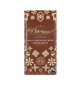 Divine Chocolate Milk Chocolate Bar with Hazelnut