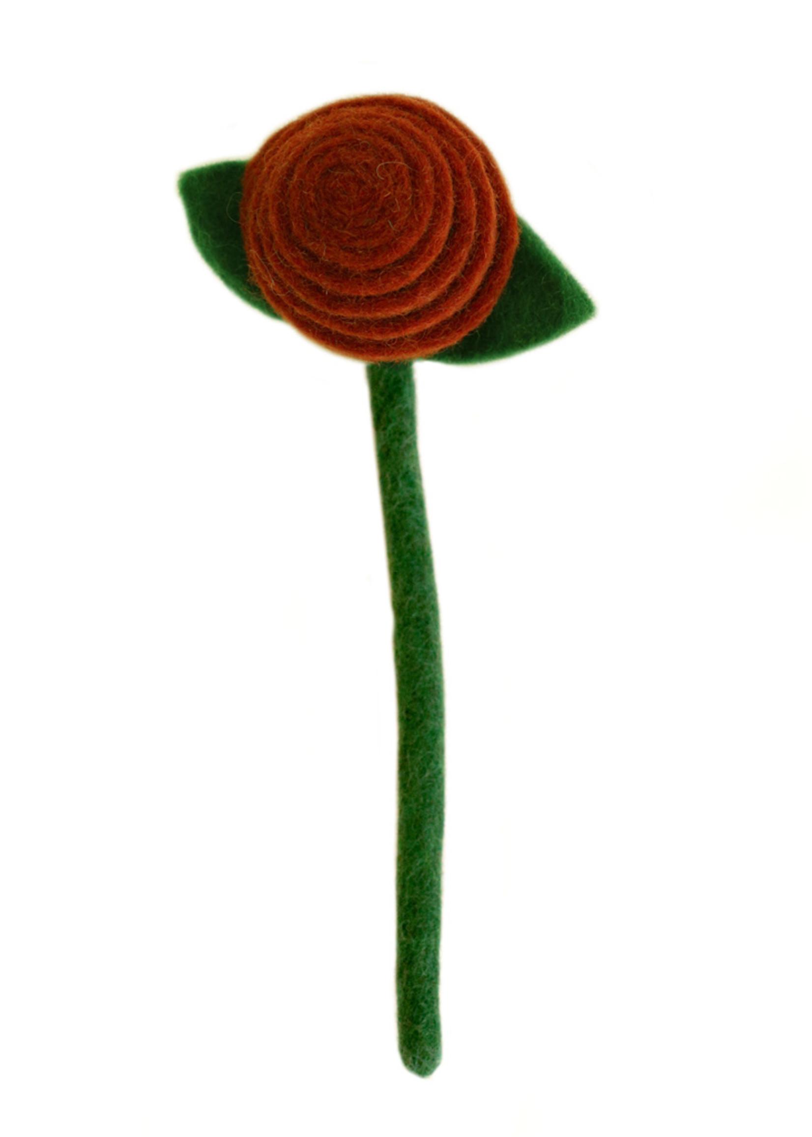 Global Goods Partners Felt Tea Rose Flower