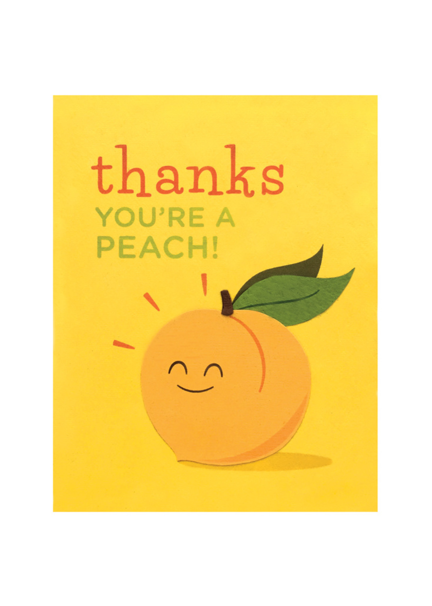 Good Paper Thanks You're A Peach Card