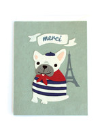 Good Paper Merci Bulldog Card