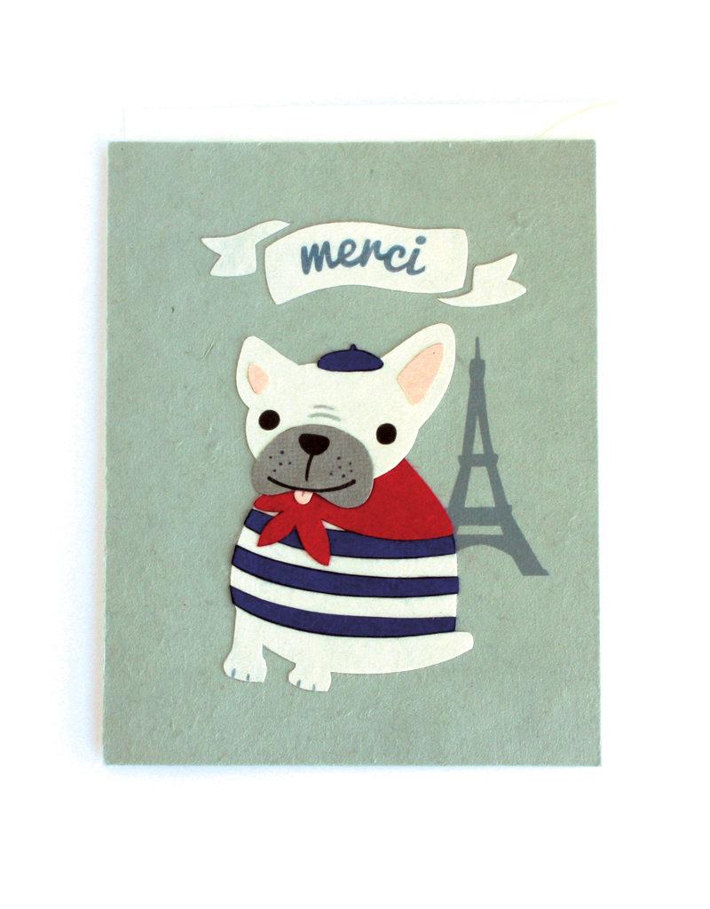 Good Paper Merci Bulldog Card