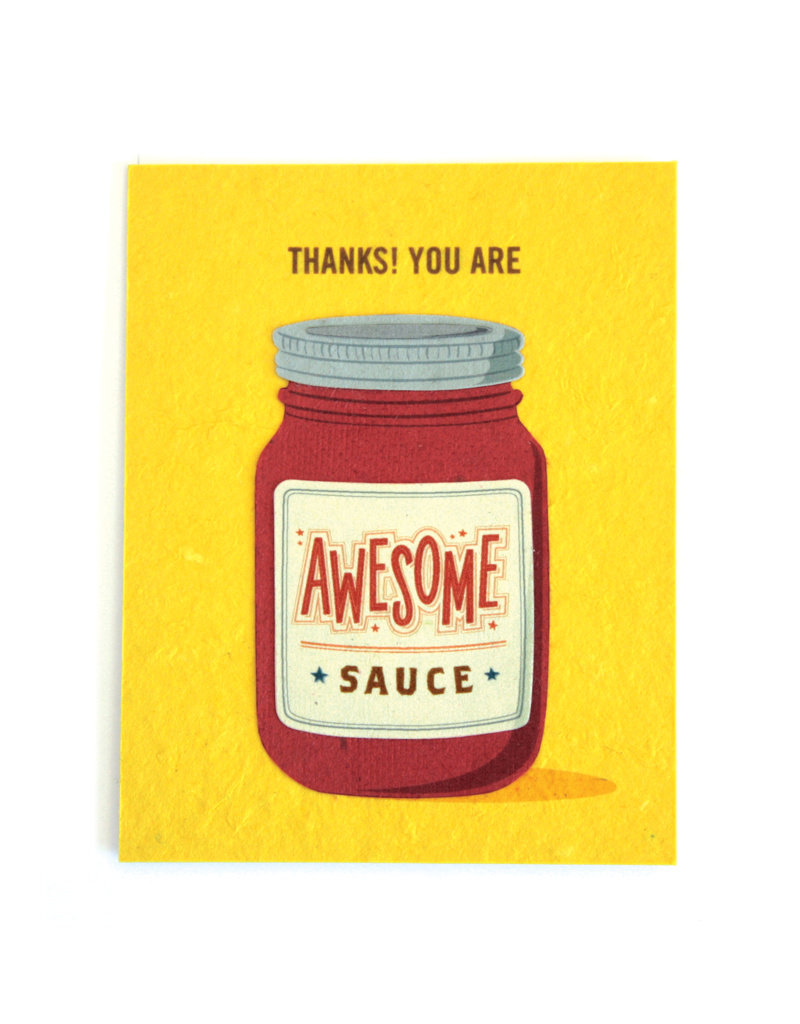 Good Paper Awesome Sauce Card