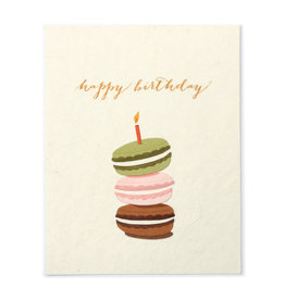 Good Paper Macaroon Birthday Card