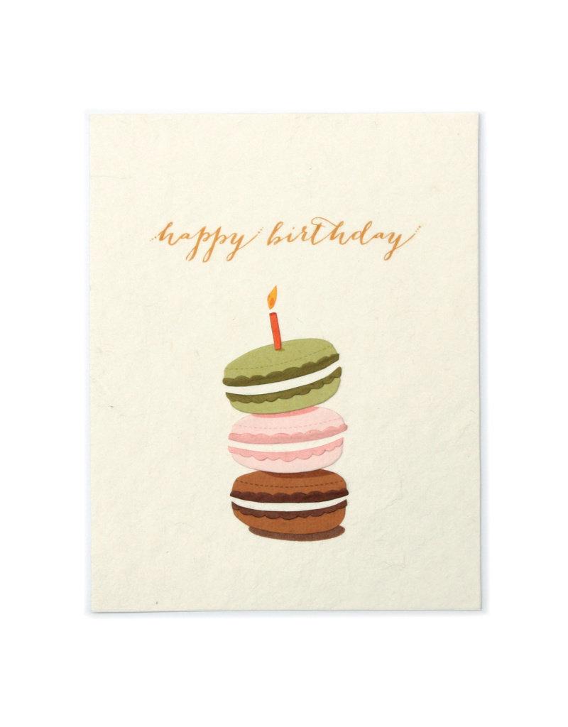 Good Paper Macaroon Birthday Card
