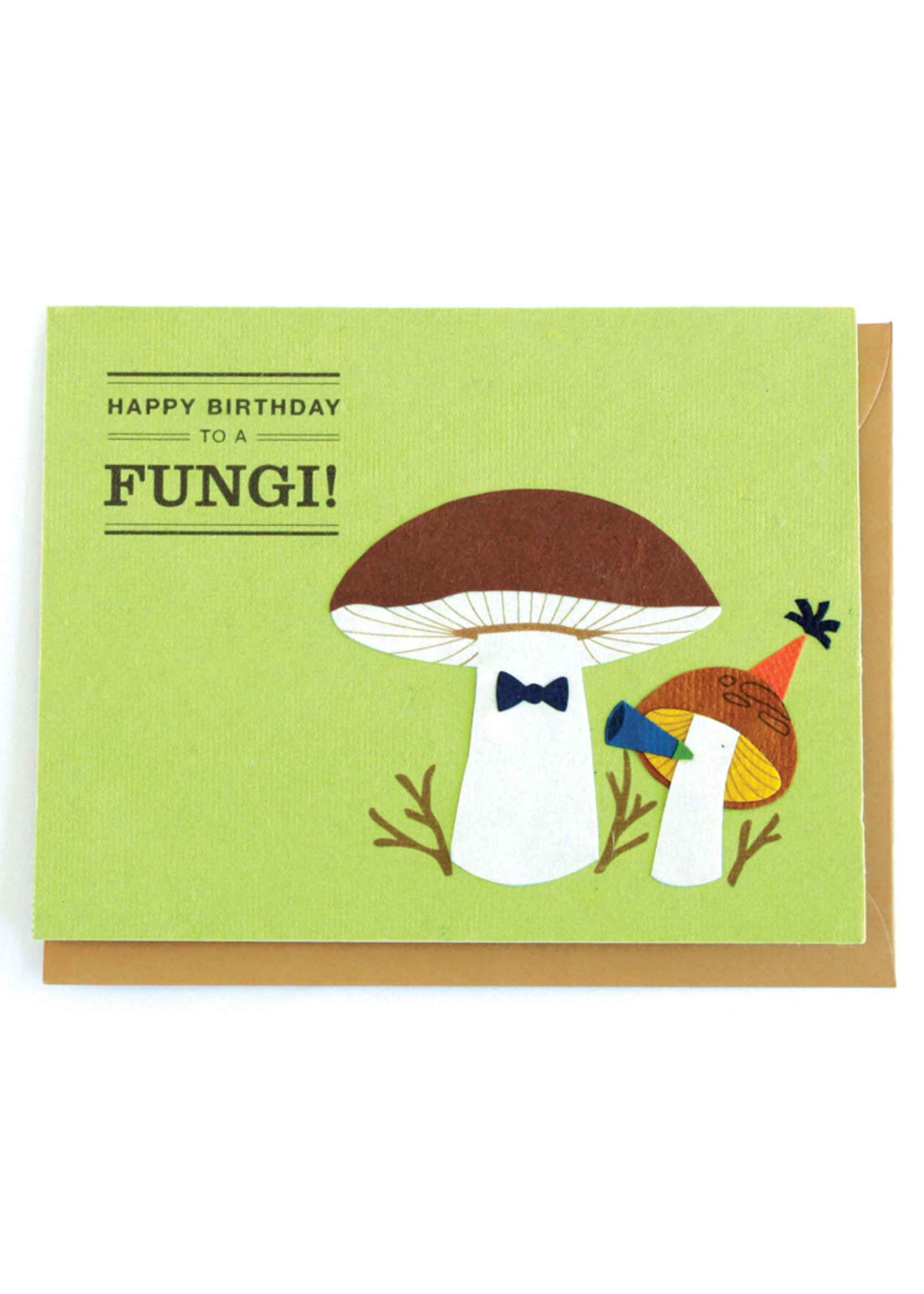 Good Paper Happy Birthday Fungi Card