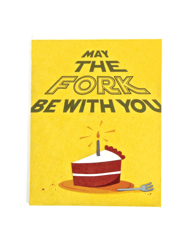 Good Paper Fork Be With You Card