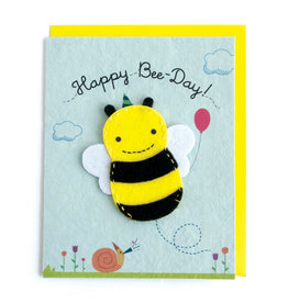 Good Paper Happy Bee-Day Puppet Card