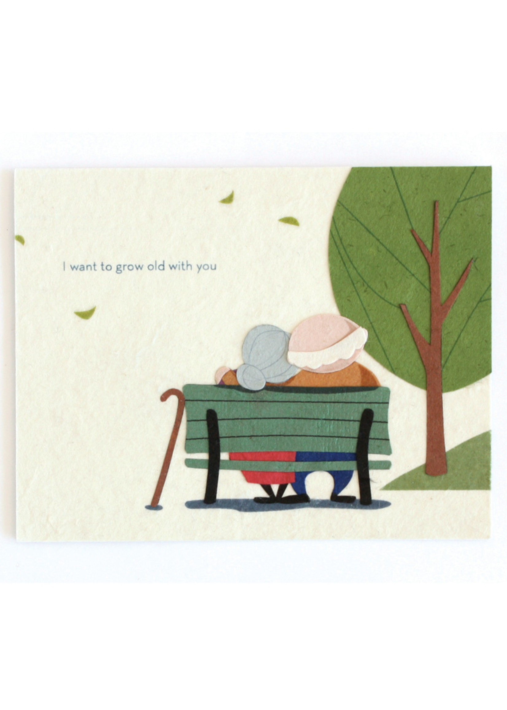 Good Paper Grow Old with You Card
