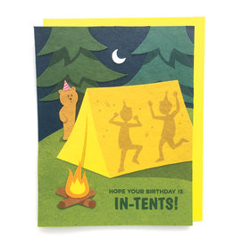 Good Paper In Tents Birthday Card